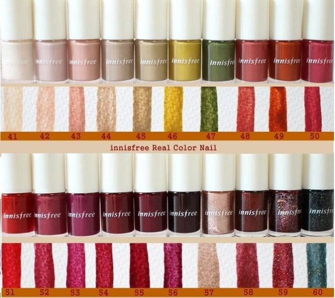 bảng màu Innisfree Real Color Nail Fall