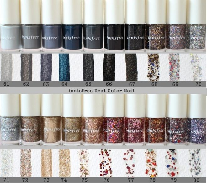 bảng màu Innisfree Real Color Nail Winter